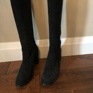 Stewart Weitzman knee high suede black boots
